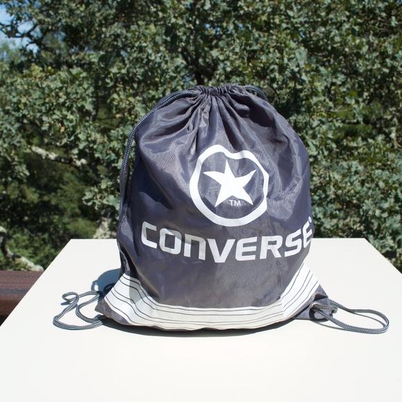 Converse Handbags - Converse Gray White Drawstring Bag
